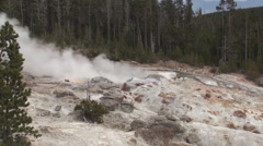 Zoom in of geyser in Yellowstone Stock Footage