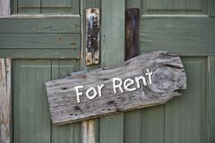 For Rent Sign. - stock photo