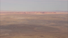 AERIAL United States-Rugged Landscape In Painted Desert Stock Footage