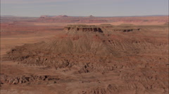 AERIAL United States-Flight Past Large Butte Stock Footage