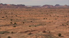 Stock Video Footage of AERIAL United States-Flat Section Of Painted Desert