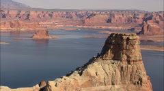 AERIAL United States-Lake Powell Stock Footage