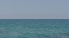 Open Sea - Horizen & Blue Sky - WideShot 150 FPS Color Corected Stock Footage