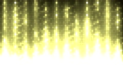 Abstract gold equalizer. - stock footage