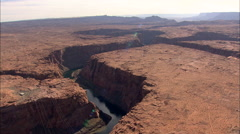 AERIAL United States-Navajo Bridge Stock Footage