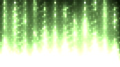 Abstract green equalizer. Stock Footage