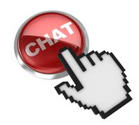 Push button - chat Stock Illustration