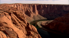AERIAL United States-Rock Formations In Colorado River Canyon Stock Footage