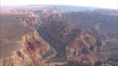 AERIAL United States-Entering Main Section Of Grand Canyon National Park - stock footage