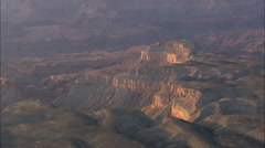 AERIAL United States-Canyons On Edge Of Grand Canyon National Park Stock Footage