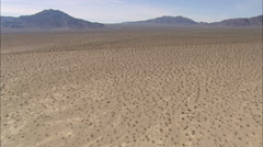 AERIAL United States-Desert Landscape And Crossing Death Valley Road Stock Footage