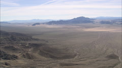AERIAL United States-Passing Over Mojave Desert Landscape Stock Footage