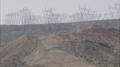 AERIAL United States-A Forest Of Pylons Stock Footage