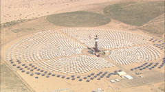 AERIAL United States-Solar Power Plant Stock Footage