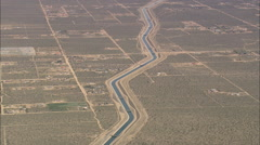 AERIAL United States-California Aqueduct - stock footage