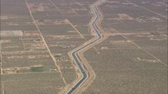 AERIAL United States-California Aqueduct Stock Footage