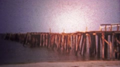 1960: Many of the piers of Miami were in disrepair and needed a facelift. Stock Footage