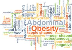 Abdominal obesity background concept Stock Illustration