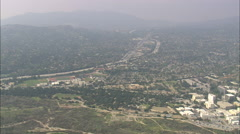 AERIAL United States-Suburbs Around Altadena Stock Footage