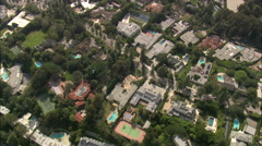 AERIAL United States-Houses In Beverly Hills Stock Footage