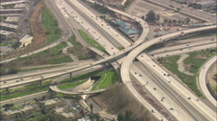 AERIAL United States-Intersection On San Diego Freeway Stock Footage