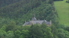 AERIAL Germany-Lauenstein Castle Stock Footage