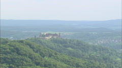 AERIAL Germany-Veste Coburg Fortress Stock Footage
