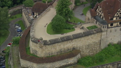 Stock Video Footage of AERIAL Germany-Veste Coburg Fortress