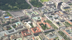 AERIAL Germany-Overhead Memorial To The Murdered Jews Of Europe Stock Footage