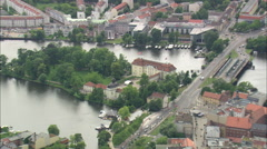 AERIAL Germany-Treptow-Kopenick Stock Footage