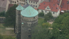 AERIAL Germany-Stolpen Castle - stock footage