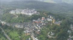 AERIAL Germany-Augustusburg Castle Stock Footage