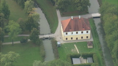 AERIAL Germany-Lustheim Palace Stock Footage