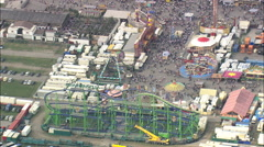 AERIAL Germany-Carnival Rides At October Beer Festival - stock footage