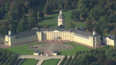 AERIAL Germany-Karlrushe Palace Stock Footage