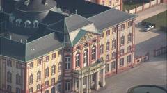 AERIAL Germany-Bruchsal Castle Stock Footage