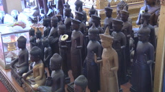 Statues at the Royal Palace in Phnom Penh, Cambodia Stock Footage