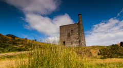 Timelapse, Wheal Betsy tin mine, Dartmoor National Park Stock Footage