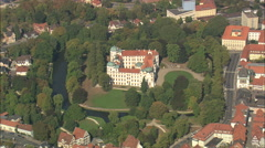 AERIAL Germany-Celle Castle Stock Footage