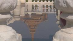 Water mirrored roof at the Royal Palace in Phnom Penh, Cambodia Stock Footage