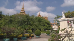 Royal Palace in Phnom Penh, Cambodia Stock Footage