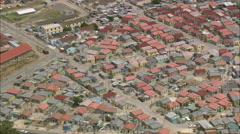 AERIAL South Africa-Cape Flats Stock Footage