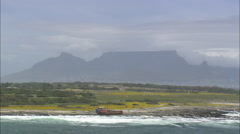 AERIAL South Africa-Robben Island Stock Footage