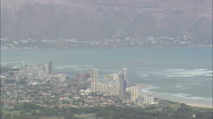 AERIAL South Africa-Somerset West And Gordon Bay - stock footage