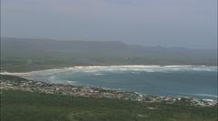 AERIAL South Africa-Franskraal Strand Stock Footage