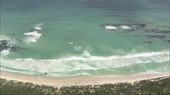AERIAL South Africa-Pearly Beach Stock Footage