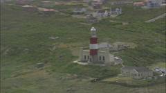 AERIAL South Africa-L'Agulhas And Africa's Southernmost Point Stock Footage