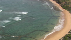AERIAL South Africa-Ancient Fish Traps At Still Bay West - stock footage