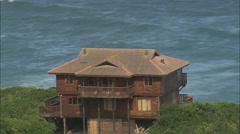 AERIAL South Africa-Coastline Between Still Bay West And Gouritsmond - stock footage