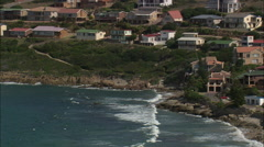 AERIAL South Africa-Vlees Bay Stock Footage